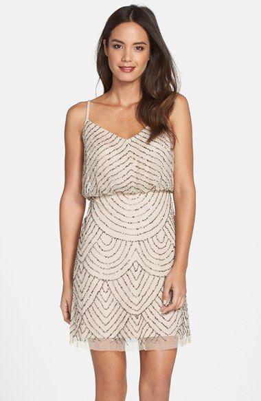 Adrianna Papell Sequin Mesh Blouson Dress (Regular & Petite) available at #Nordstrom