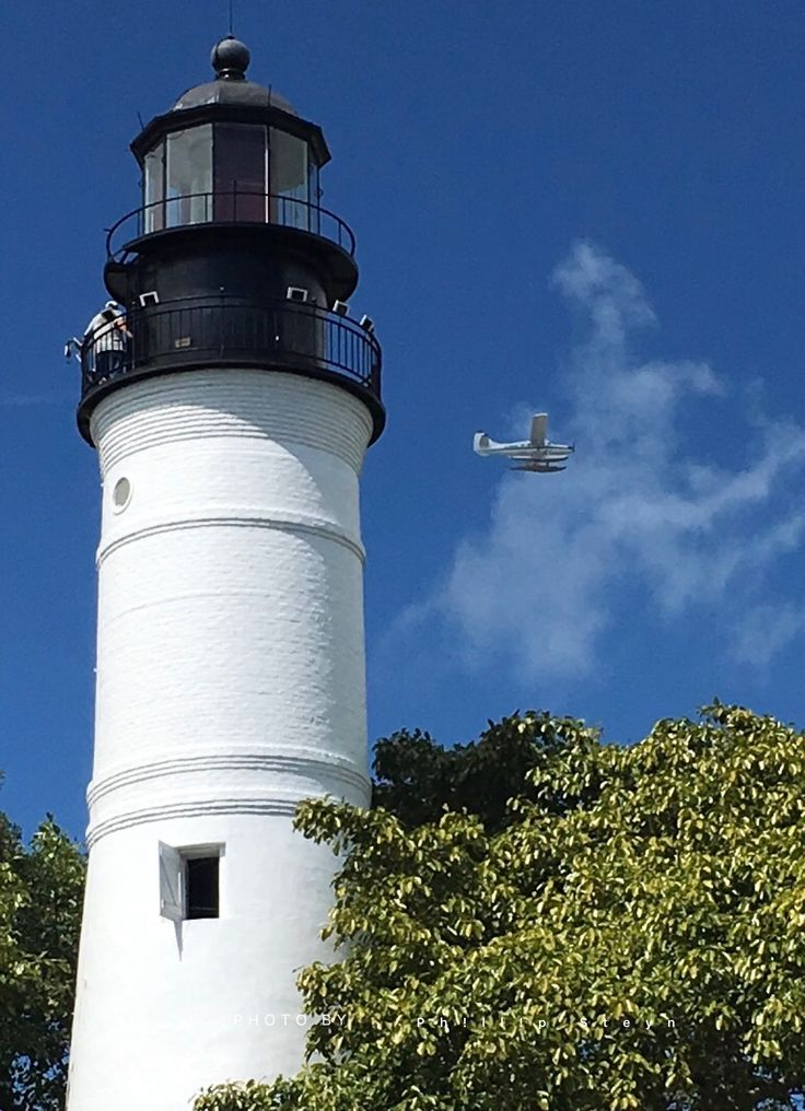 Flying by the most southern lighthouse on the Northern American Continent