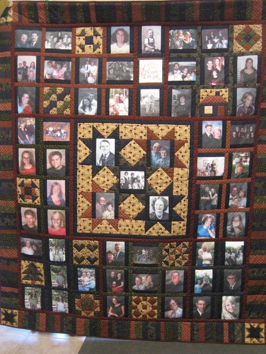 Family picture quilt..
