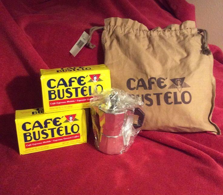 Cafe bustelo cuban espresso gift set aluminum coffee maker