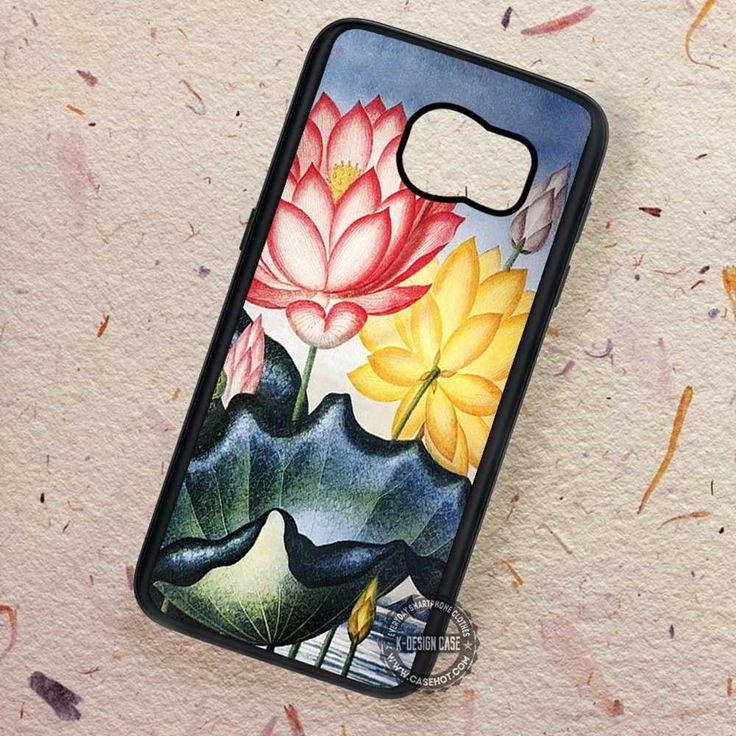 Vintage Lotus Art Noveau Indie - Samsung Galaxy S7 S6 S5 Note 7 Cases & Covers