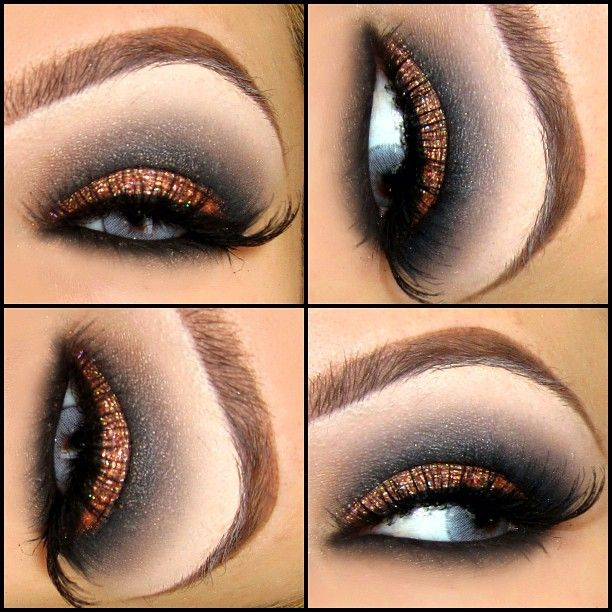Gorgeous look.....Bronze lid with charcoal gray crease. Loving it!
