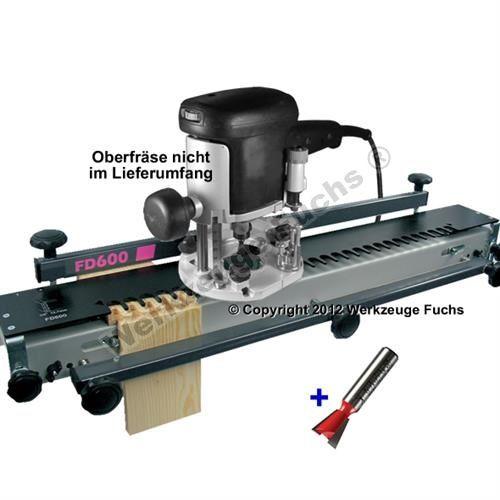Zinkenfräsgerät FD600 Zinkenfrässchablone für Oberfräsen Werkstückbreite bis 610mm, mit Zinkenfräser