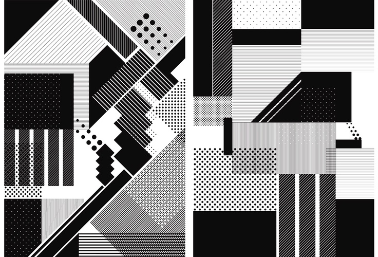 Steve Bufoni. lines-plus-dots-abstract
