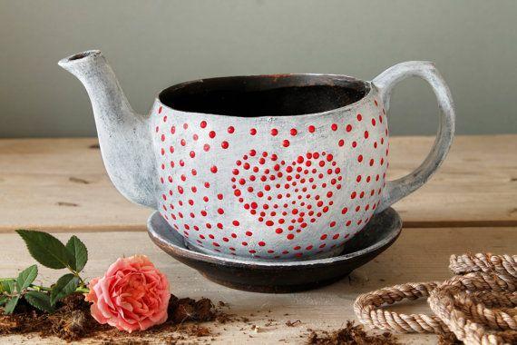 Love Ceramic planter, Handmade, Sculpture design, pottery ceramic…