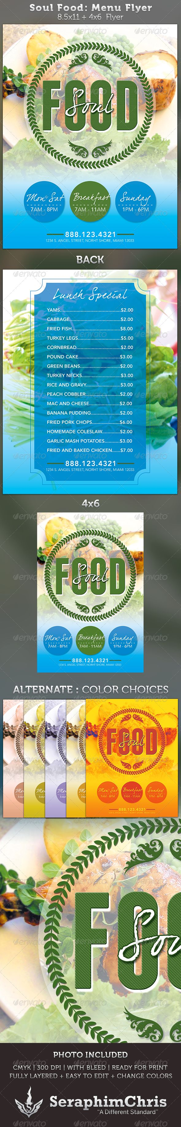 best images about foods flyers restaurant food soul food menu flyer template