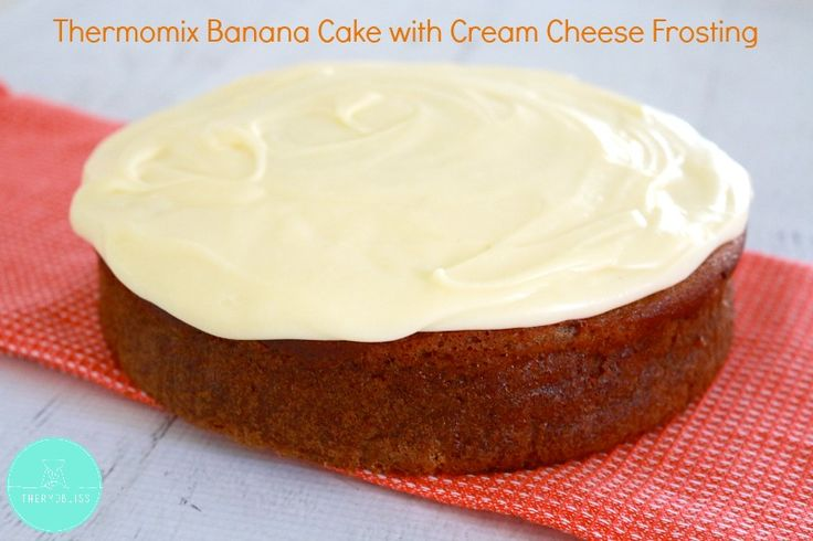The easiest and yummiest Thermomix Banana Cake made with Cream Cheese Frosting. Absolutely delicious!!