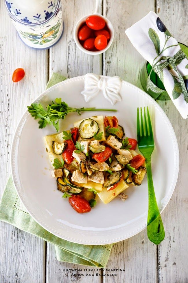 Apron and Sneakers - Cooking & Traveling in Italy and Beyond: Pasta with White Fish, Tomatoes and Zucchini