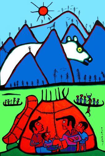 Norval Morrisseau - Giant Bear