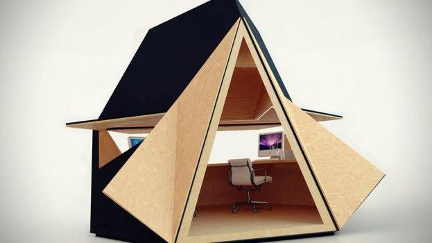 Strak mobiel kantoor laat je ontspannen in de achtertuin (of op het ...