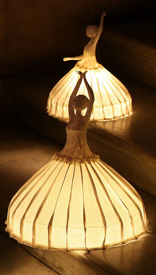 Ballerina Lamps at the Palais Garnier diwan-- pretty. Could also be a good Halloween costume idea. Kid will be a very visible ballerina princess fairy, and would still be pretty even if you make her wear snowpants underneath.