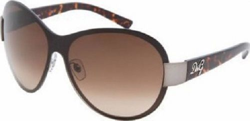 Dolce & Gabbana Sunglasses Brown Musk style brown silver new with case Italy  #DolceGabbana