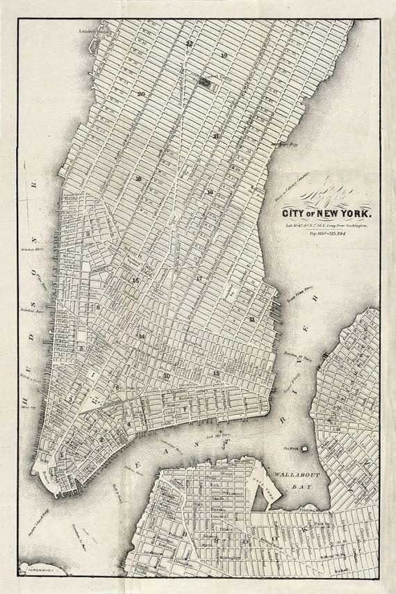 1860 map of new york city