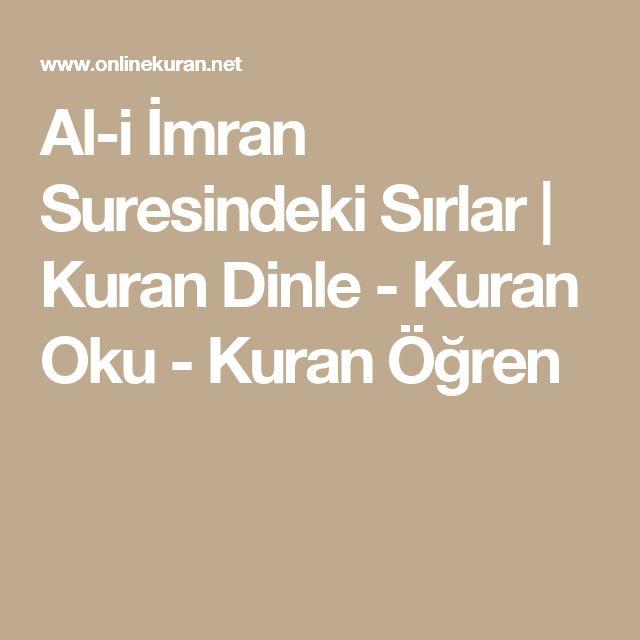 Al-i İmran Suresindeki Sırlar   Kuran Dinle - Kuran Oku - Kuran Öğren