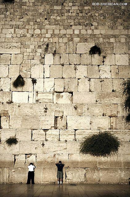 Le Mur des Lamentations à Jérusalem, Israël. Ce est un vestige de l'ancienne muraille qui entourait la cour du Temple juif