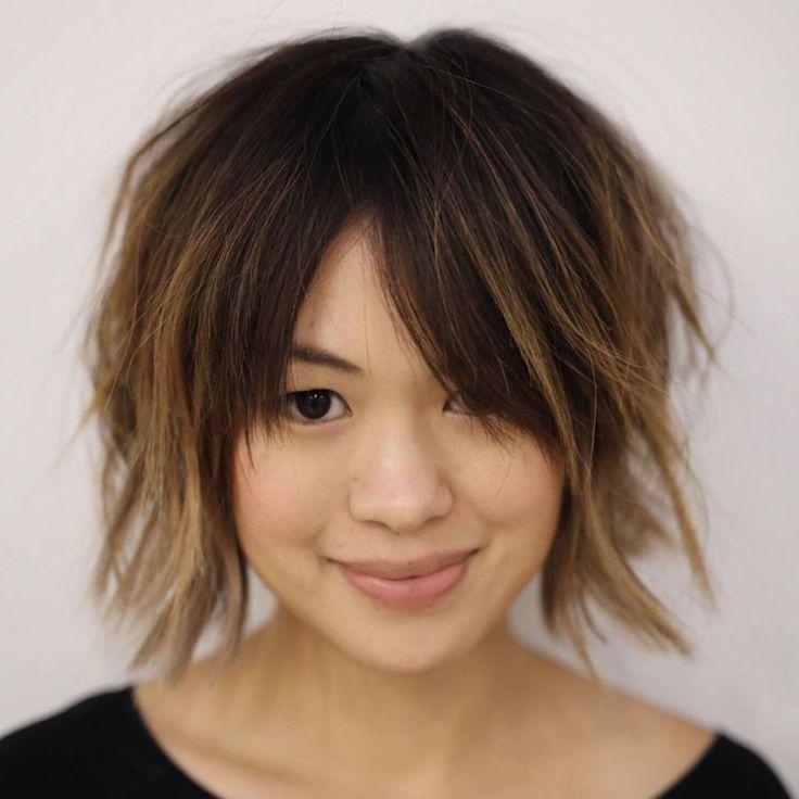 Top 60 schmeichelhafte Frisuren für runde Gesichter – Hairstyles