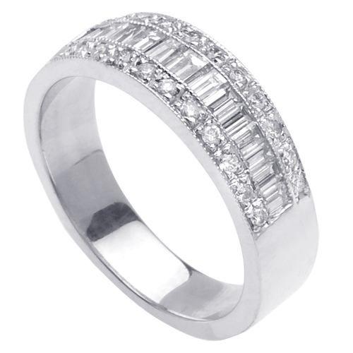 .60ct Channel Set Baguette Ladies Diamond Wedding Ring In