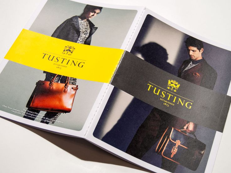 Brand identity for Tusting - Look book. Straight Forward Design.