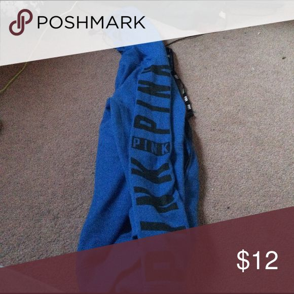 Victoria Secret zip up hoodie Blue Victoria secret PINK zip up PINK Victoria's Secret Tops Sweatshirts & Hoodies