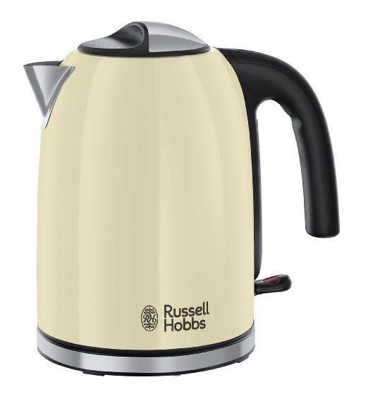 Russell Hobbs 20415 Colours Plus Kettle, 3000 W, 1.7 Litre, Cream