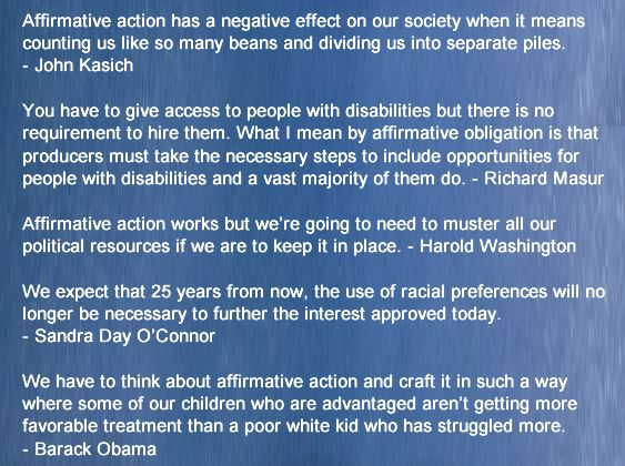 conclusion to affirmative action Affirmative action may prove to benefit those with a history of discrimination to their particular ethnicity, but, giving them an advantage over those without a history of discrimination in the past creates even more social injustice.