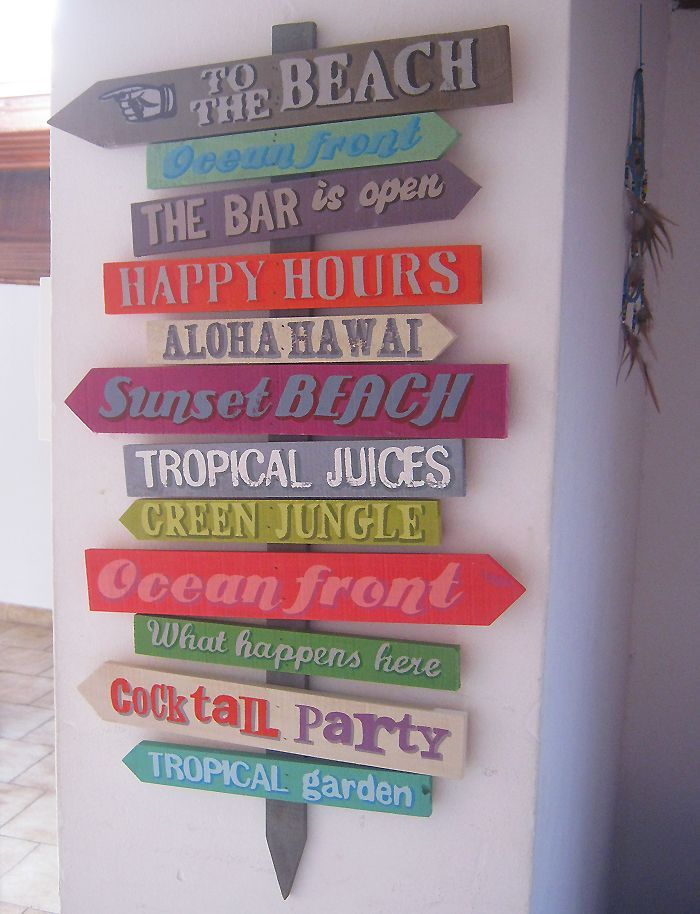 Decorazione con i nomi dei posti dove avete tracorso le vostre vacanze