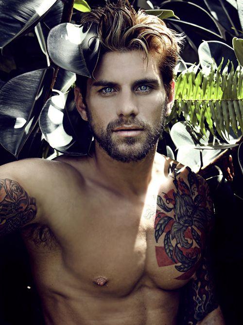 Hot guy, hot tattoos.