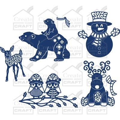 Tattered Lace Little Monsters Dies Christmas Collection (348228) | Create and Craft. ORDERED THESE - CAN'T STOP SMILING WHEN I LOOK AT THEM AS THEY ARE SO, SO, SO CUTE!!!!!!!!! :)