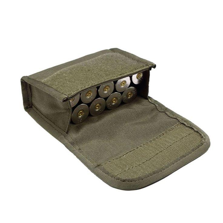 Tactical 10 Redondas Shotshell Escopeta Recargar Titular Molle Pouch para Calibre 12/20G Revista Pouch Munición Cartucho Ronda titular
