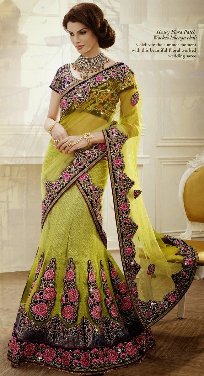 Elegant Olive Green Exclusive Saree
