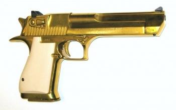 Gold plated Desert Eagle .50 cal.