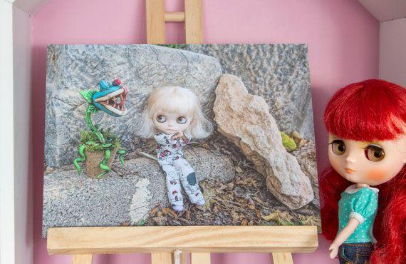 Blythe  Fotografía temática Halloween en papel por SweetMemories58 #blythe #etsy #blythephoto #originalgift #dollphoto