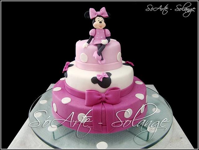 Bolo Decorado - Minnie Mouse Cake