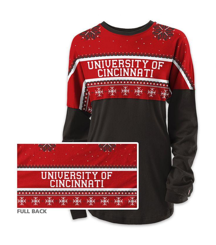 University of Cincinnati Snowflake Spirit Jersey
