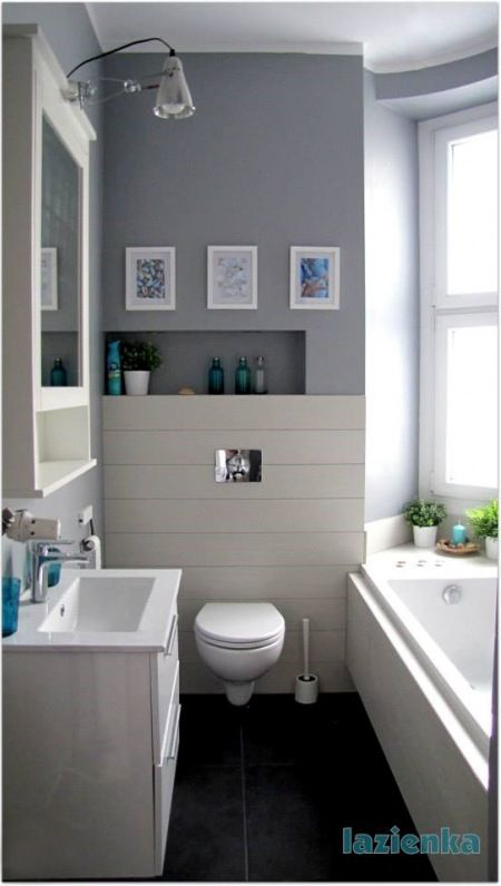 Dekoracje w biało-szarej łazience - Lovingit.pl