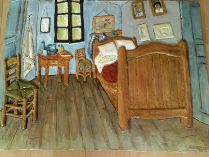 La camera da letto van gohg. Bassorilievo