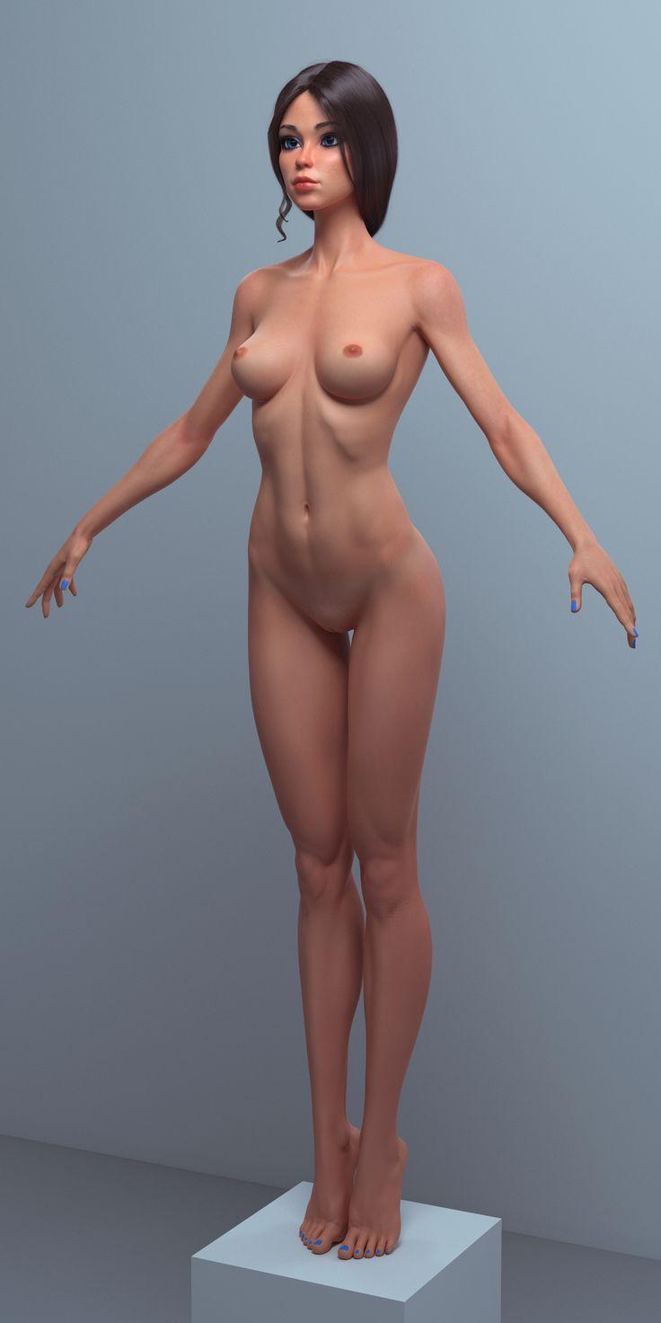 ArtStation - Cartoon girl, female character, Roman Adamanov