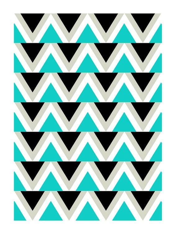 retro menagerie etsy: Quilt Inspiration, Geometric Wall Art, Retro Design, Triangle Pattern, Retro Menagerie, Wallpapers, Menagerie Etsy