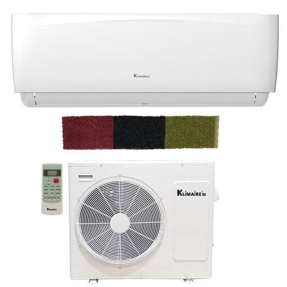 12,000 BTU Klimaire 16 SEER Ductless Mini-Split Inverter Air Conditioner Heat Pump WiFi Enabled System + Three-In-One Multi-Function Special Add-on Filter