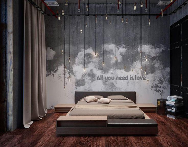 Дизайн спальни 2015 года: самые интересные новинки (фото) http://happymodern.ru/dizajn-spalni-2015-goda-samye-interesnye-novinki-foto-2/ Один из вариантов оформления спальни в стиле лофт. Выдержанность и стиль