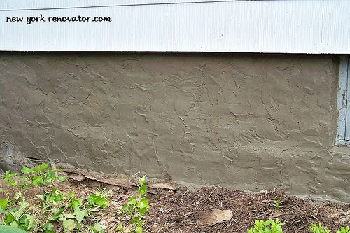 Covering Foundation Walls : Best parging images on pinterest foundation repair