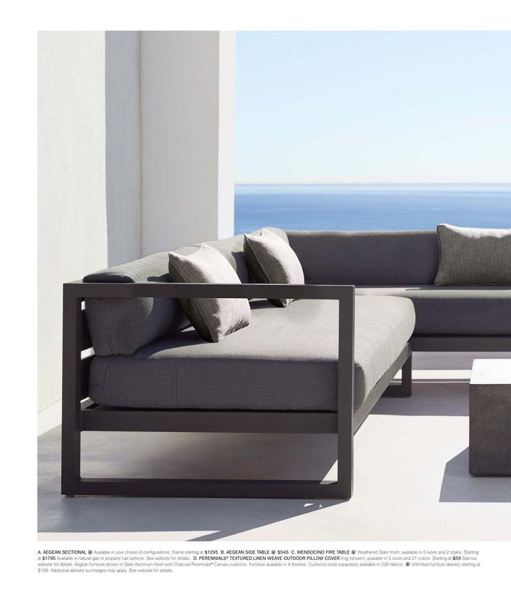 Rh source books lower deck outdoor sofa muebles de for Muebles industriales metal baratos