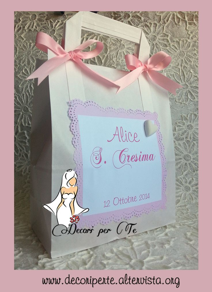 SACCHETTINO/BAG PER BOMBONIERE CRESIMA - CONFIRMATION FAVOUR BAGS -