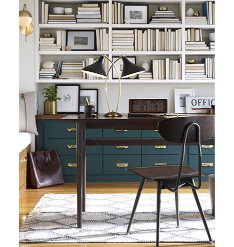 Cedar and Moss Sconce, Lynwood Double Lamp, Kelley Desk | Rejuvenation