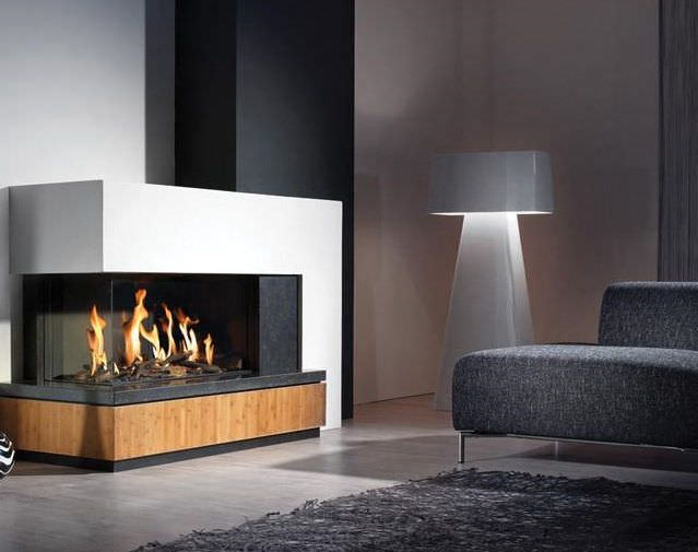 127 best images about propane fireplaces on pinterest for Contemporary corner fireplace designs