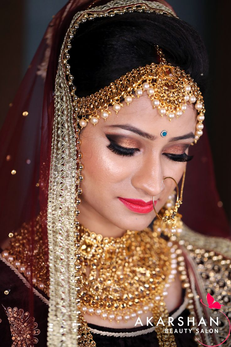 Hd bridal makeup with 3d effects at akarshan beauty salon