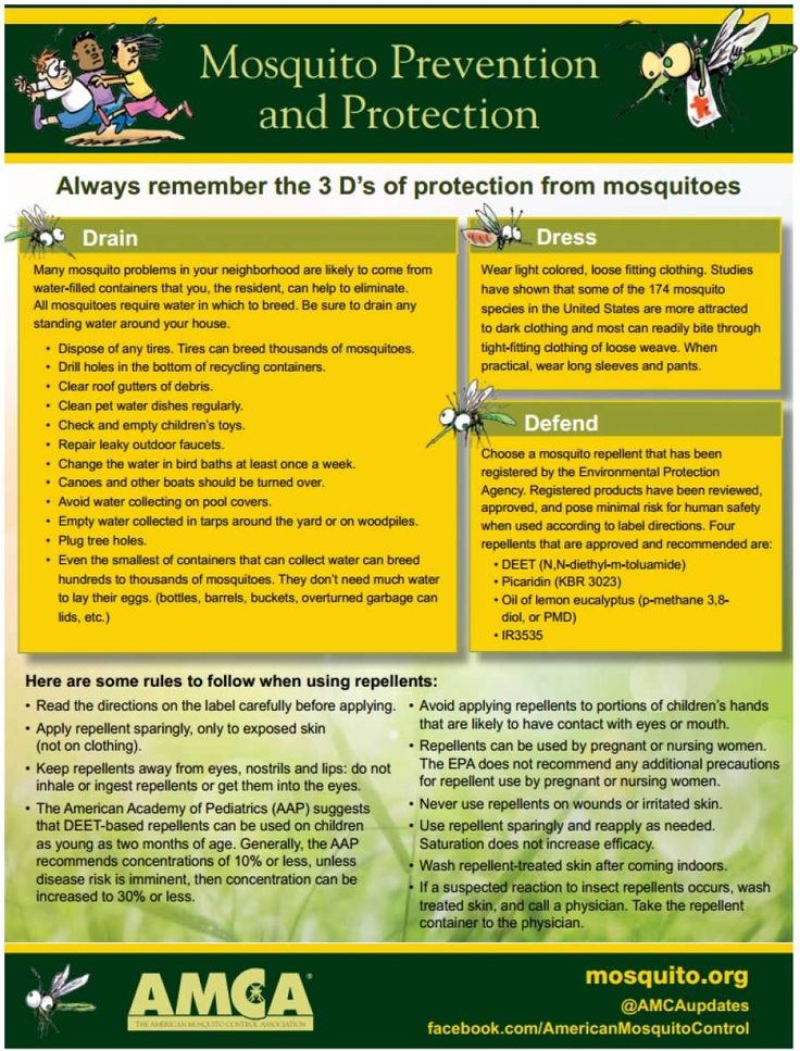 A handy guide to Mosquito Protection from the AMCA