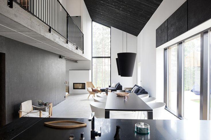 Lammi-Kivitalo Majassa yhdistyy karut pinnat selkeään moderniin tyyliin, lisää ideoita www.lammi-kivitalot.fi