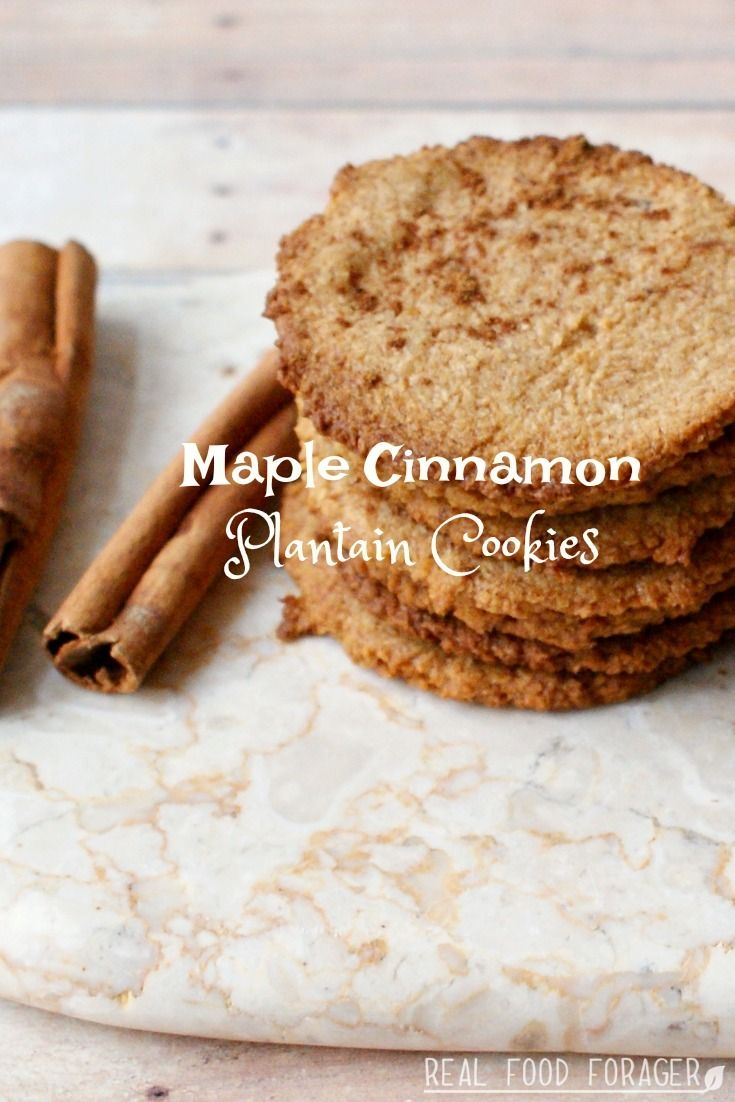 Maple Cinnamon Plantain Cookies (Paleo, AIP). Grab the recipe for these fantastic crunchy cookies!