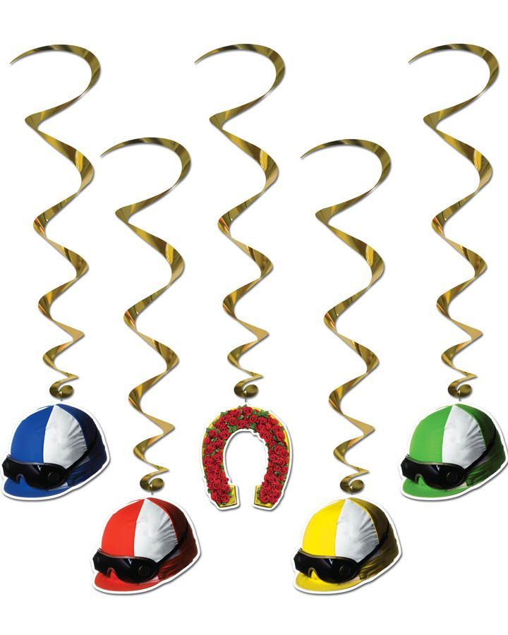 Melbourne Cup Whirls Hanging Decorations - ✯ www.pinterest.com/WhoLoves/Melbourne-Cup ✯ #MelbourneCup #TheRaceThatStopsANation